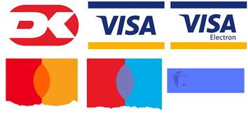 Betalingsmetoder: dankort, visa, visa electron, mastercard, eurocard, mobilepay.